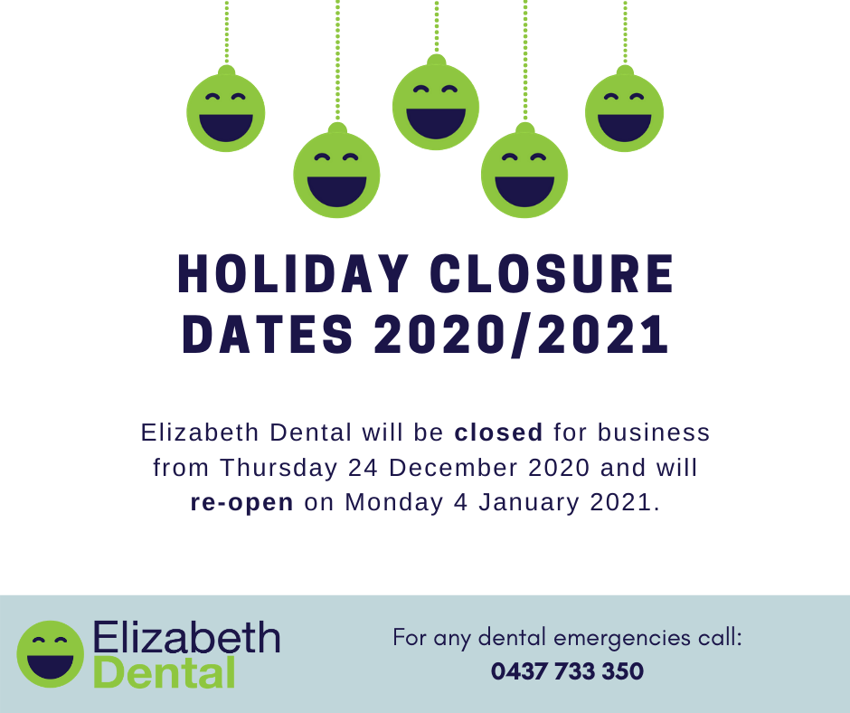 Image: Holiday Closure Dates 2020/2021
